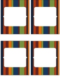 Striped Classroom Labels