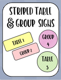 Striped Classroom Table and Group Labels