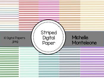 Striped Digital Paper