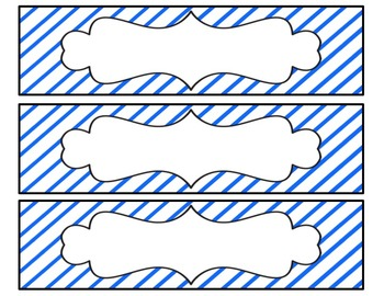Striped Drawer Labels
