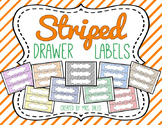Striped Drawer Labels