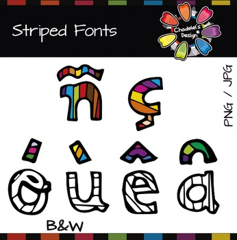 Striped Fonts