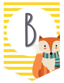 Striped Fox Banner