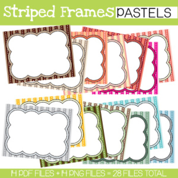 Striped Frames **PASTELS COLLECTION**