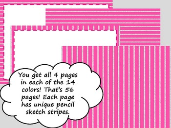 Striped Frames and Backgrounds