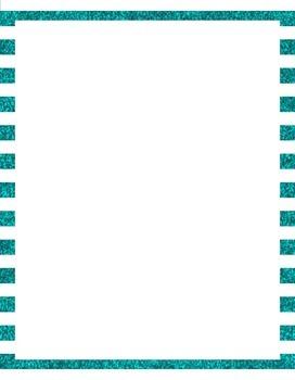 Striped Glitter Borders