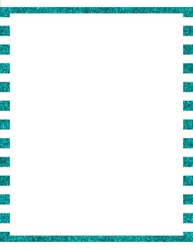 Striped Glitter Borders