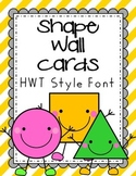 Striped HWT style Shape Wall Cards - red, green, yellow