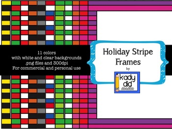 Striped Holiday Frames {Kady Did Doodles}