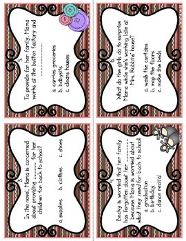 Striped Ice Cream Task Cards