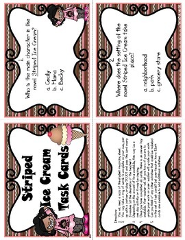 Striped Ice Cream Task Cards