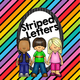 Striped Letters