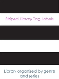 Striped Library Book Bin Tags