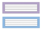 Striped Name Plates