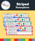 Striped Nameplates {Editable!}