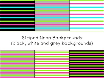 Striped Neon Backgrounds