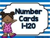 Striped Number Cards 1-120