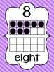 Striped Number Posters {0-20} With Number, Tens Frame & Nu