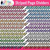 Striped Page Dividers Clip Art {Rainbow Glitter Borders fo
