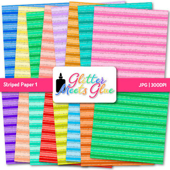 Rainbow Striped Paper {Scrapbook Backgrounds for Task Cards & Brag Tags} 1