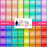 Rainbow Striped Paper | Scrapbook Backgrounds for Task Cards & Class Decor 1