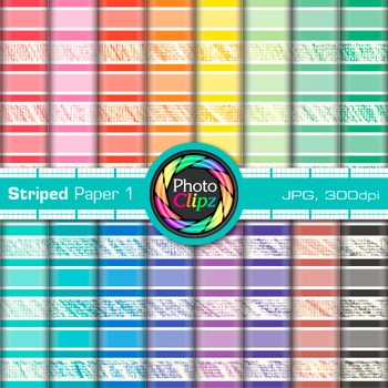 Rainbow Striped Paper {Scrapbook Backgrounds for Worksheet
