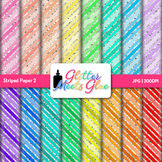 Rainbow Striped Paper | Scrapbook Backgrounds for Task Cards & Class Decor 2