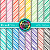Rainbow Striped Paper {Scrapbook Backgrounds for Worksheets, Resources} 2