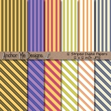 Striped Paper Pack (Olive Green, Salmon, Lavender, Violet, Blue and Cream)