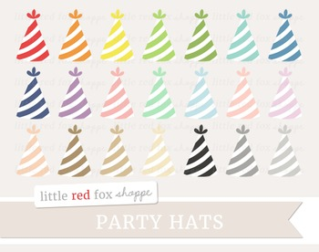 Striped Party Hat Clipart; Birthday
