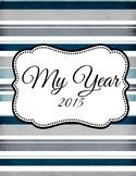 Striped Personal Calendar / Organizer 2015