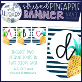 Striped Pineapple Banner