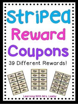 Striped Reward Coupons