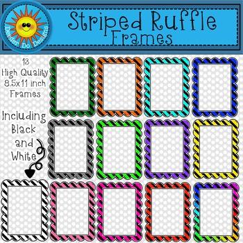 Striped Ruffle Frames