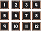 Striped Scalloped Calendar Numbers in Brown!