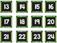 Striped Scalloped Calendar Numbers in Green!