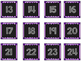 Striped Scalloped Calendar Numbers in Purple!