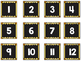 Striped Scalloped Calendar Numbers in Yellow!