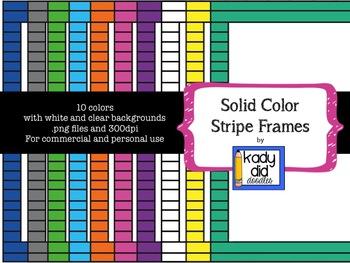 Striped Solid Color Frames {Kady Did Doodles}