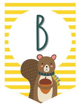 Striped Squirrel Banner