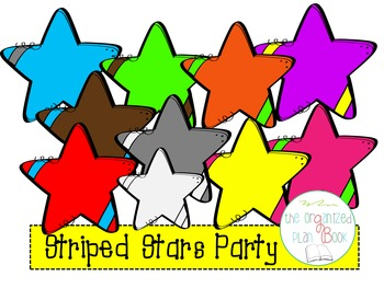 Striped Stars Clip Art