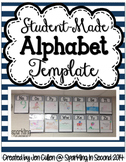 Striped Student-Made Alphabet Template FREEBIE