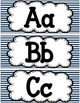 Striped Student-Made Alphabet Template FREEBIE