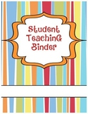 Striped Student Teaching Binder Cover (Editable)
