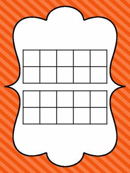 Striped Tens Frame Mats