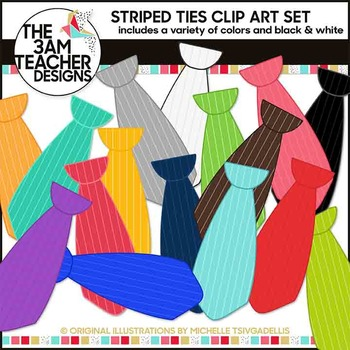 Striped Ties Clip Art Collection