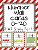 Striped Wall Cards - Red, Green, Yellow BUNDLE