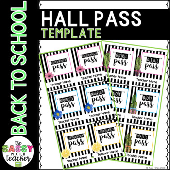 Hall Pass Template