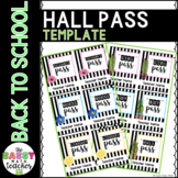 *Back To School* Striped Watercolor Cactus Floral Hall Pass