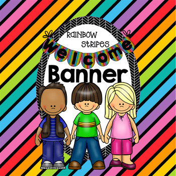 Striped Welcome Banner
